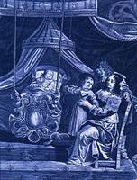 Philippe (just born) with Louis XIII, Anne of Austria, Louis XIV on his side